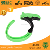 plastic (pom) hose holder for your garden outdoor or home use zhejiang factory green hose clamp