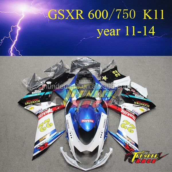 ABS plastic body cover for SUZUKI GSXR600 750 <strong>K11</strong> K10 year 2011 2012 2013 2014