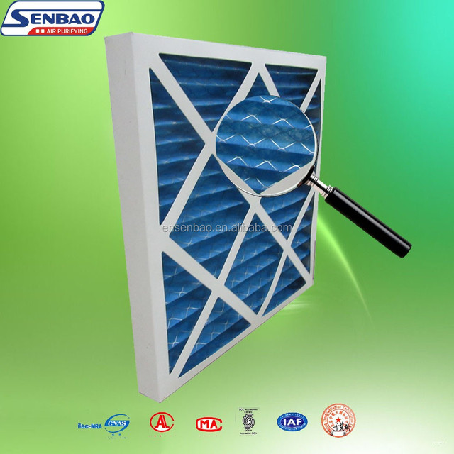 Disposable Air Conditioning Synthetic Fiber Paper Frame Pre Air Filter