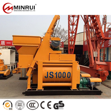 Minrui elevator bucket type js1000 concrete mixer With Promotional Price