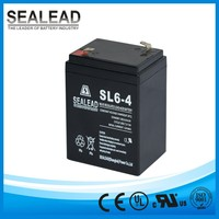 long life lead acid AGM free maintenance 6v 4ah 20hr rechargeable battery for scales