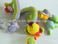 soft plush animal crib hanging toys
