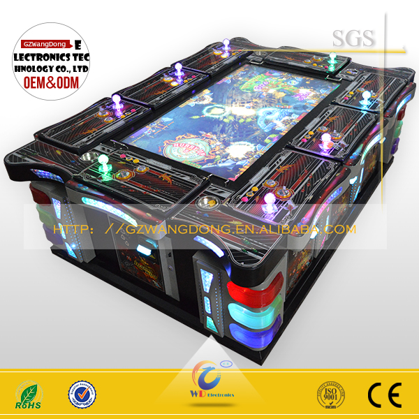 China panyu made casino craps tables / used casino poker tables / ocean monster plus fish hunter game