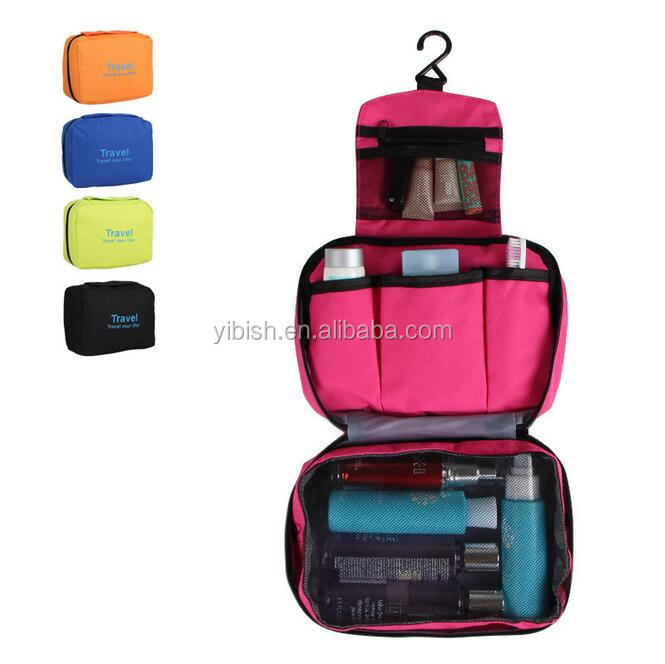 YIBISH Portable Multi-function Waterproof Hanging Wash Bag Toiletry Bag Travel Cosmetic Bag Pouch Organizer #KZ-02