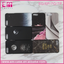 Custom printed 3D colorful water transfer printing sublimation mobile phone case for iphone 7 7 plus