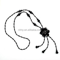 Hotsale purple Crystal lady necklace,accept OEM