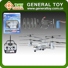 2.4G remote control 4 channel rc transport aircraft fish hawk helicopter