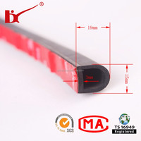 3m self adhesive car door rubber seal strip with different types