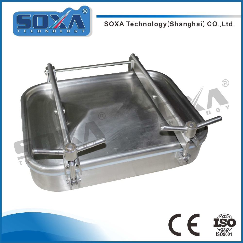 Square type Stainless Steel Sanitary tank manway