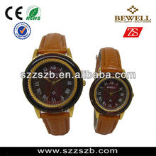 New hot Wooden Leather Pairs Lovers Watches