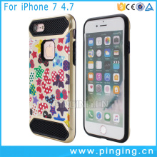 Hot New Product Painted Carbon Fiber Mars Armor Case Protective Cover for Apple i Phone 7 PC TPU Case