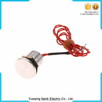 2016 New hot sale 12mm metal waterproof piezoelectric switch with LED manufacture
