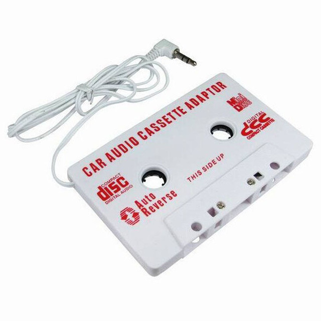 white Universal Car Cassette Tape Stereo Adapter Tape Converter with 3.5mm Jack Plug For iPod CD Player