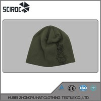 Black Warm Ski Winter hat and cover the ear promotional winter knitted cap