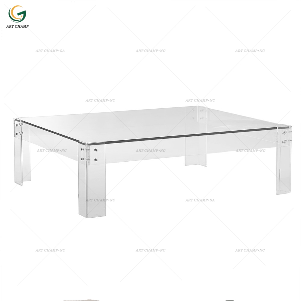 living room home furniture clear acrylic folding glass center table