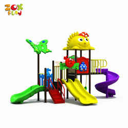 China Supplier Used School Child Toy Big Slide Combined Large Equipment Kid Outdoor Playground For Sale