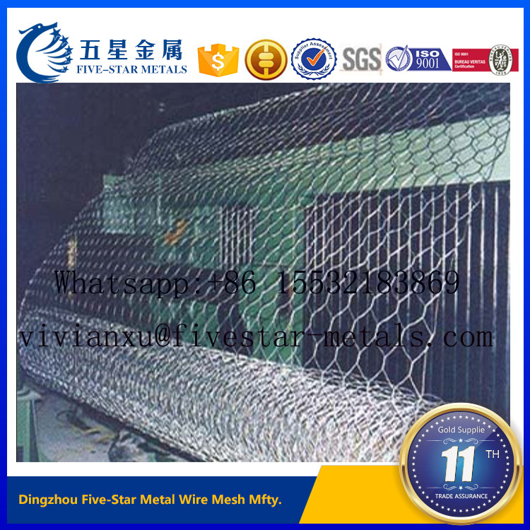 Hexagonal Wire Netting Green Pvc Poultry Hex Netting