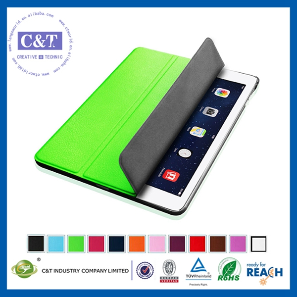 2014 New Fashion leather zip wallet smart case cover for ipad 3 2 4