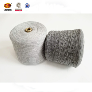 Wholesale grey melange core-spun covering knitting yarn