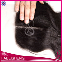 Factory Cheap Price 6A Brazilian Human Virgin Hair Free Middle Part Top Lace Closure Bleached Knots Pieces