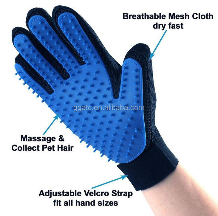 TPR pet grooming glove,2 in 1 grooming glove