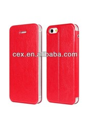 Wholesale - Factory Supplier Cell Phone Cases PU Leather Cover Case Case Cover For iphone 5 5s 5G