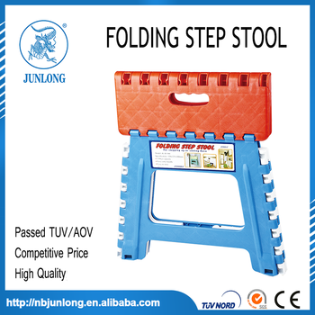 Red and blue 12 Inches Folding Step Stool