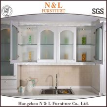 Modular kitchen cabinet Top 10 Cabinet Manufacturer PVC wrapped MDF Kitchen Units, china furniture city