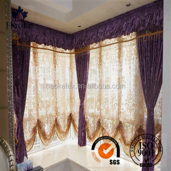 cheap polyester printed lucency terylene fabric curtain market