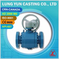 Forged Stainless Steel gear operated type Trunnion ball valve