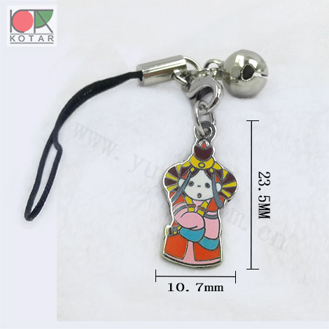 cute design cartoon high quality new enamel  keyring mobile phone strap  nickel plating gold plating