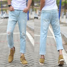 Italian Brand Name Men Casual Wear Loose Jeans From China Denim Factory Dealer