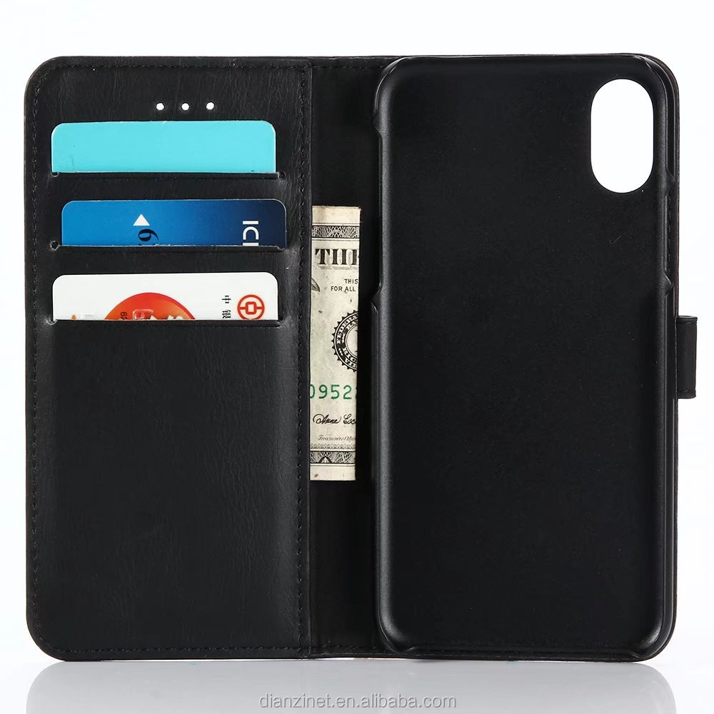 TOP ITEM wallet design stand function leather phone case for iPhone 8