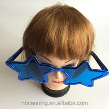party glasses / star shaped blue party glasses/ big party glasses wholesale