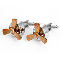 Fashion novelty cufflink for mens shirts propeller cufflinks jewelry