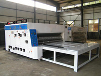 semi auto flexo printing slotting die cutting machine/ Chain feeder printer slotter