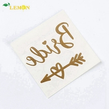 Hot Koop Fashion Designs Hoge Kwaliteit Metallic Goud Folie Flash Tattoo