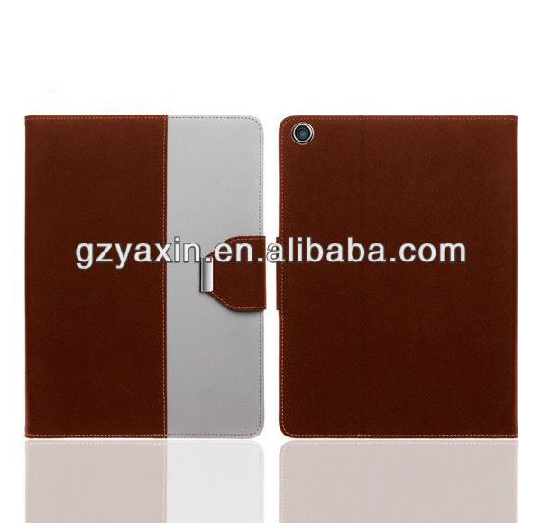 Ultra Slim Magnetic smart cover genuine leather case for ipad 5,hot selling case for ipad 5