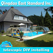 clear polycarbonate metal frame commercial swimming pool roof