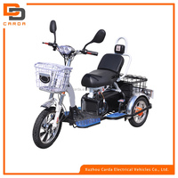 electric tricycle for 1 person with three wheel /green energy electric tricycle for adults