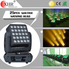 Concert light beam effect dotz 25x12w rgbw 5x5 matrix moving head led stage ligting for dj