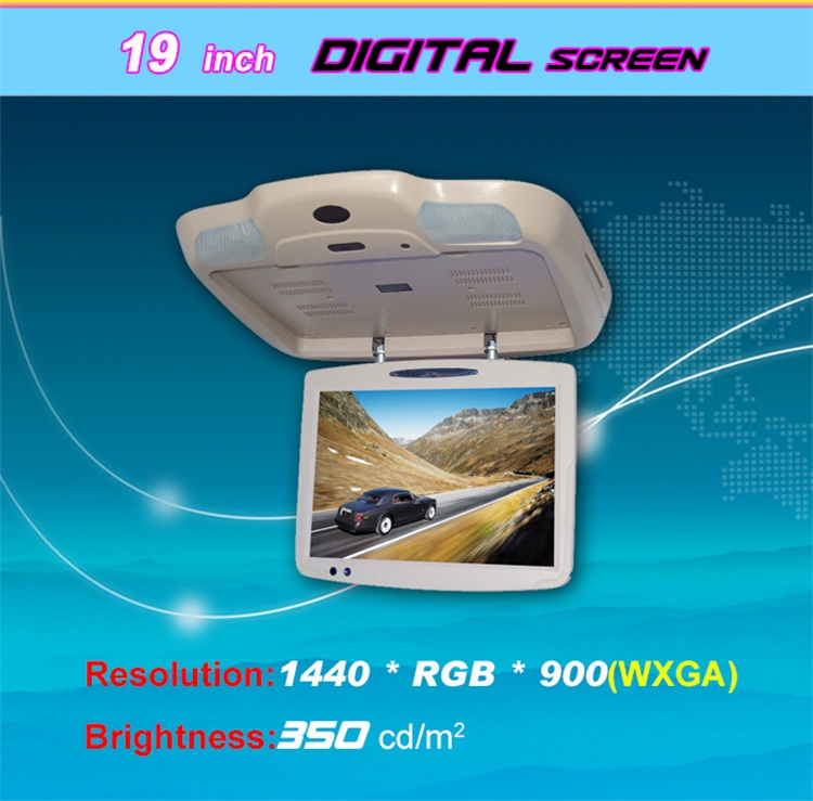 9-15 inch suspended flip down Bus TV LCD monitor with USB/SD/HDMI/VGA input