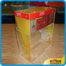 Elegant 3 tiers acrylic e cigarette display stand for retail