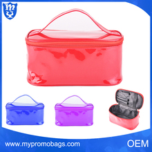 New design lady fancy waterproof personalized cosmetic bag leather makeup case