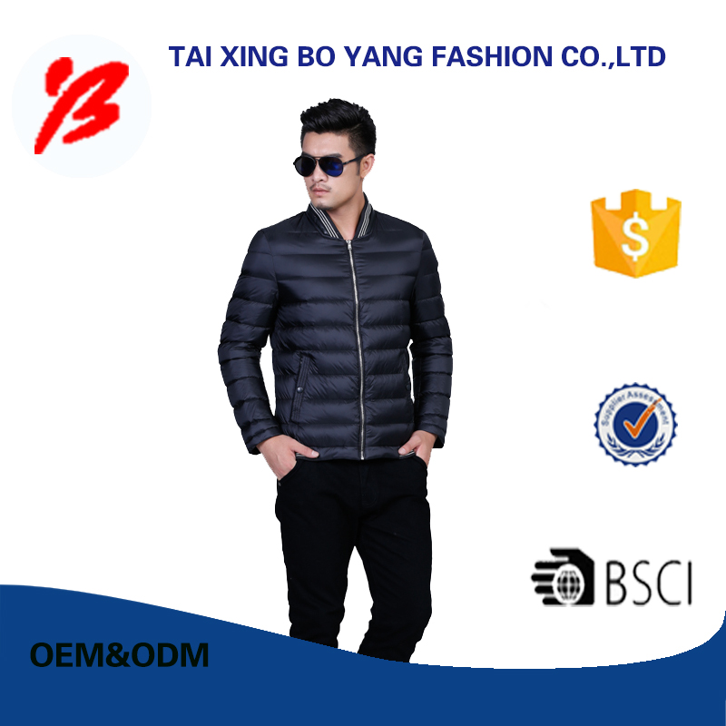 high quality young men winter jacket with