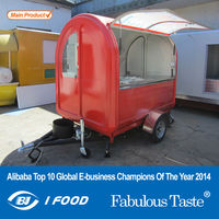 Electric tricycle food cart vending mobile food cart with wheels CE&ISO9001Approval snack sale food cart