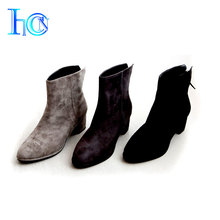 Exquisite latest design used women leather sheepskin boots for ladies