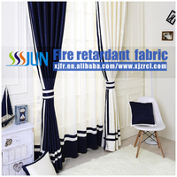 woven plain 100% polyester inherently fire retardant blackout Hotel Curtain/ Drapery window curtain