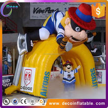 Factory price football mascot cartoon tunnel inflatables
