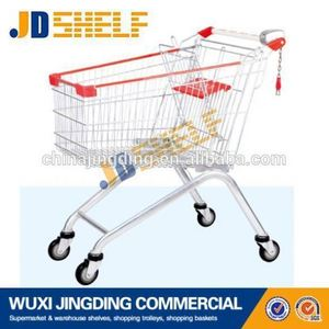 China manufacture germany supermarket trolley/shopping cart